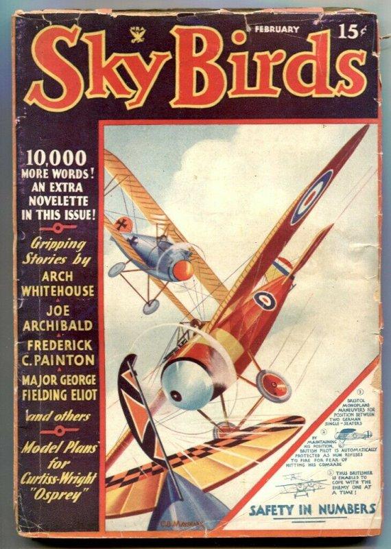 Sky Birds Pulp February 1935- George Fielding Eliot VG
