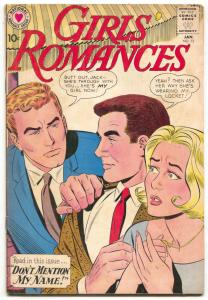 Girls' Romances #73 1961-DC-love triangle cover--romance art-VG