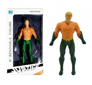 DC Justice League Aquaman 8 Bendable Figure - New!