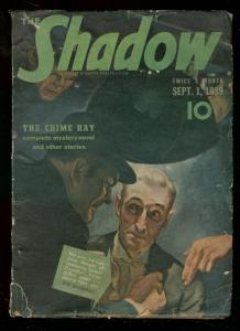 SHADOW SEPT 1 1939- THE CRIME RAY STREET & SMITH PULP G
