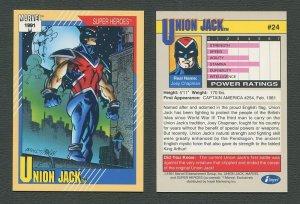 1991 Marvel Comics II  Card  #24 ( Union Jack )  MINT