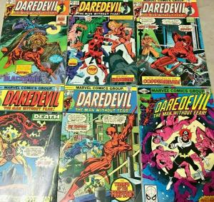 DAREDEVIL#122-169 VG-VF LOT 1975 (6 BOOKS) MARVEL BRONZE AGE COMICS