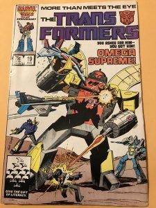 The Transformers #19 : Marvel 8/86 Gd/VG; Omega Supreme