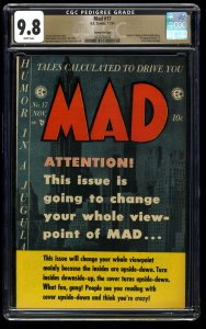 Mad #17 CGC NM/M 9.8 White Pages Gaines File Copy
