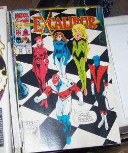Excalibur # 47 FEB 1992, Marvel  x men PHOENIX NIGHTCRAWLER CAPTAIN BRITTAIN