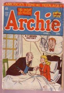 ARCHIE COMICS #30 1948 BETTY & VERONICA-AL FAGALY ART FR