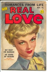 Real Love #41 1951-Ace-painter portrait cover-An Brewster art-VG
