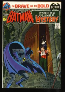 Brave And The Bold #93 VF 8.0 White Pages Batman House of Mystery!