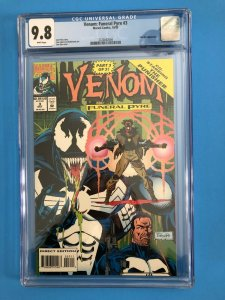VENOM : FUNERAL PYRE #3 CGC 9.8 WHITE MARVEL /  PUNISHER APPEARANCE