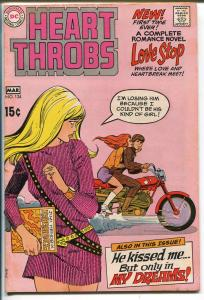 Heart Throbs #124 1970-DC-motorcycle-Jimi Hendrix-Estrada-Colletta-VG/FN
