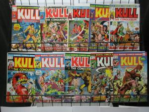 Kull the Conqueror (Marvel 1971) #1-10 RE Howard's Atlantis Warrior classic