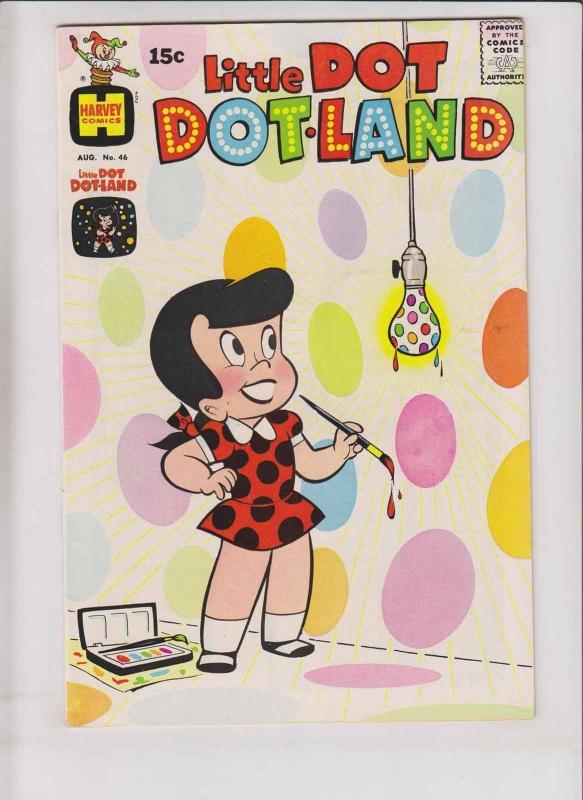 Little Dot Dotland #46 VF- august 1970 - silver age harvey comics - all ages