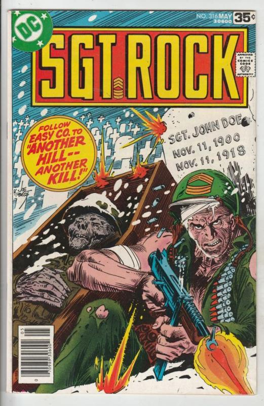 Sgt. Rock #316 (May-78) VF/NM High-Grade Sgt. Rock, Easy Co.