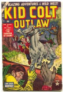 Kid Colt Outlaw #43 1954- Black Rider- Atlas Western VG