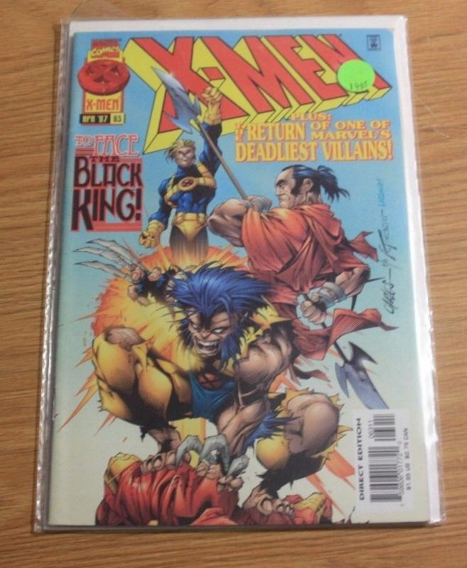 X-Men # 63 (Apr 1997, Marvel) black king woverine