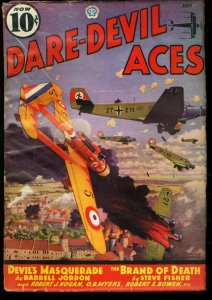 DARE-DEVIL ACES 1936 JUL-WWII BOMBING CVR-PULP VG/FN