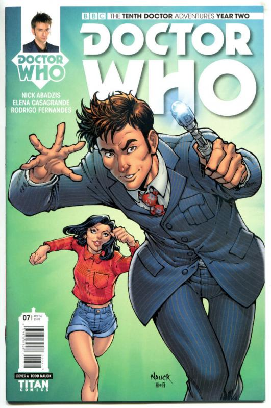 DOCTOR WHO #7 A, NM, 10th, Tardis, 2015, Titan, 1st, more DW in store, Sci-fi