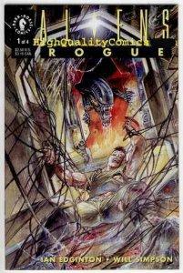 ALIENS ; ROGUE #1, Horror, Will Simpson, Sci-fi, NM+