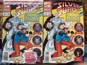 SILVER SURFER ANNUAL #6 NEWSSTAND VARIANT NM 1ST LEGACY! PLUS UNBAGGED READER