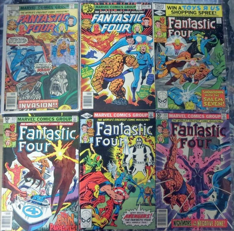Fantastic Four 12 Issues #198-262 Mixed 1978-1983 Dr Doom Avengers Negative Zone