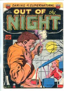 OUT OF THE NIGHT #3-1952-ACG-BOUND BLONDE BABE-WITCHES-vg
