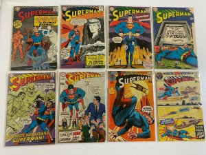 Silver Age Superman Comic Lot 10 Different Books #190-238 4.0 VG (1966-1971)