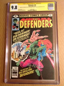 CGC SS 9.8 Defenders #78 signed by Stan Lee, Ed Hannigan, McLeod & Herb Trimpe