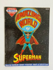 Amazing World of Superman #1 with attached map DC Treasury 4.0 VG (1973)