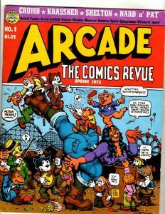Lot Of 3 Arcade The Comics Review Print Mint Comic Magazines # 1 2 6 VF/NM FM7