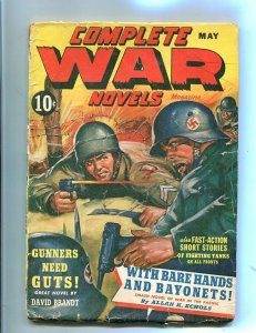 COMPLETE WAR PULP-MAY-1943-NAZI/MILITARY FIGHT-RED CIRC G/VG