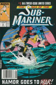 Saga of the Sub-Mariner #3 (Newsstand) FN; Marvel | save on shipping - details i