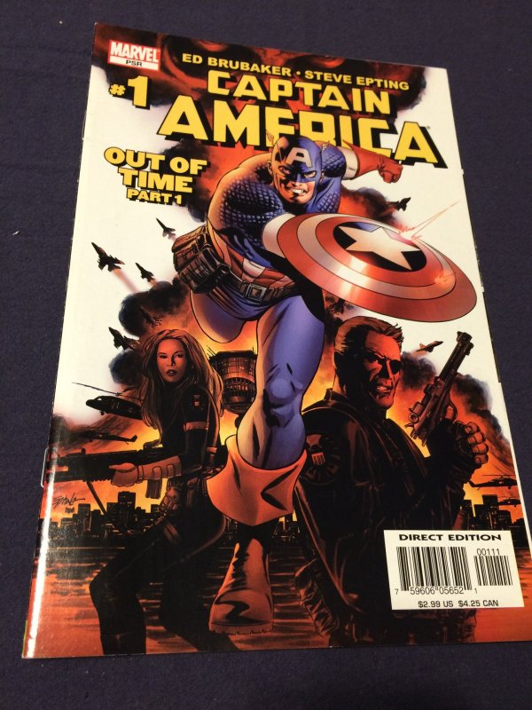 Captain America #1 NM (2005) Out of Time Part 1 Marvel Comics