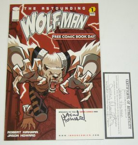 Astounding Wolf-Man FCBD #1 VF/NM signed by jason howard w/COA
