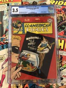All-American Comics #89 CGC 3.5 golden age ORIGIN harlequin 1947 USA americana