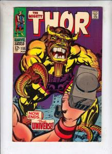 Thor, the Mighty #155 (Aug-68) FN+ Mid-High-Grade Thor