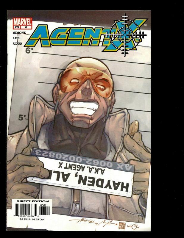 Lot Of 7 Agent X Marvel Comics # 1 2 3 4 6 7 8 X-Men Deadpool Spider-Man EK10