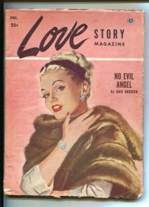 Love Story #4 12/1952--Pin-up girl portrait cover-Edited by Peggy Graves- Ann...