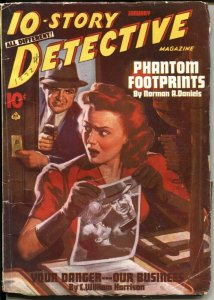 10-STORY DETECTIVE--JAN 1944-SPICY GEORGE J ROZEN COVER-CRIME & MYSTERY PULP-WW2