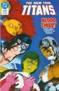 New Teen Titans (1984 series) #42, NM (Stock photo)