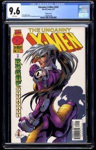 X-Men #342 CGC NM+ 9.6 White Pages Marvel Comics