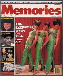 Memories  6/1989-Supremes-Hopalong Cassidy-Lou Gehrig-Ted Kennedy-FN