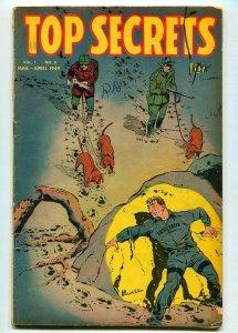 TOP SECRETS #8 1949- STREET AND SMITH-BOB POWELL-VG