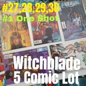 Witchblade 5 Comic Lot #27,28,29,30 plus #1 Weaselguy One Shot (Havasu Surplus)