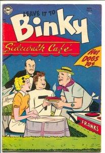 Leave It To Binky #43 1954-DC-Wacky cover-teen humor-VG+