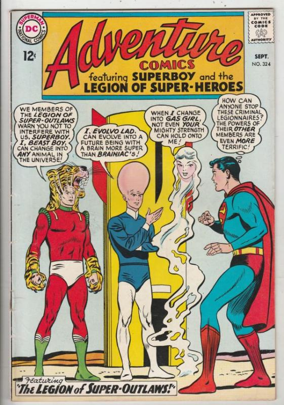 Adventure Comics #324 (Sep-64) VF/NM+ High-Grade Legion of Super-Heroes, Supe...