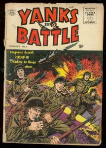 YANKS IN BATTLE #4 1956-WILD COMBAT COVER-CUIDERA ART G