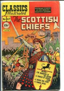 CLASSICS ILLUSTRATED #67-HRN 67-THE SCOTTISH CHIEFS-JANE PORTER-vg+