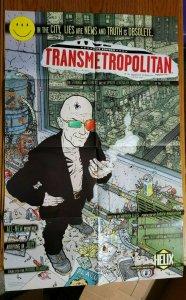 34 x 22 Transmetropolitan Helix Comics Promo Poster NO PIN HOLES NEW
