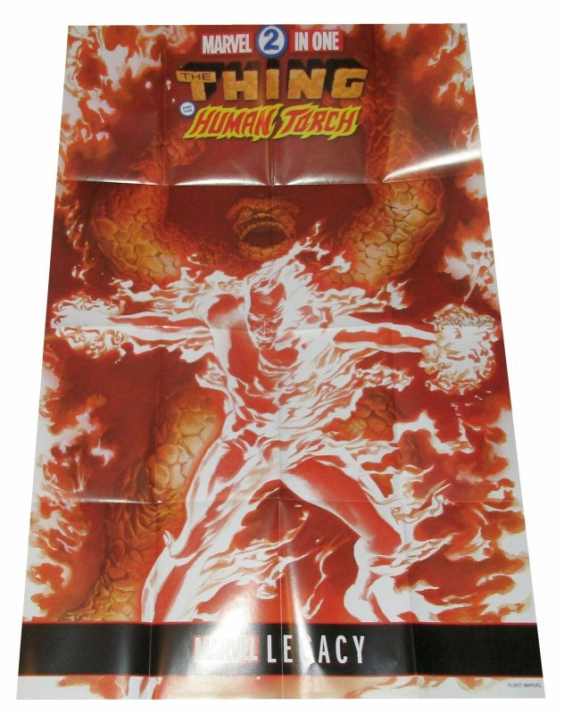 Thing & Human Torch Marvel Two in One Folded Promo Poster (36 x 24) New!