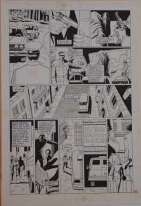 PAUL GULACY / DAN ADKINS original art, CODENAME DANGER  #4, pg 19, Pope plot